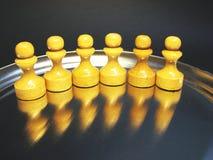 Les schémas 18 d'échecs Photographie stock libre de droits