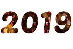 Les schémas 2019 pendant la nouvelle année illustration libre de droits