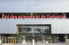 Les sciences et de l'industrie de DES de Cité Image stock