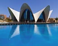 Les sciences Valence, Espagne d'arts de ville d'Oceanografic images stock
