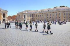 Les scouts sont à Vatican image libre de droits