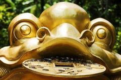 Les sculptures d'or en crapaud, plan rapproché, Images libres de droits