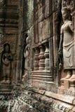 Les sculptures dans Angkor Vat du Cambodge Photos libres de droits
