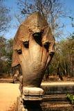 Les sculptures dans Angkor Vat du Cambodge Image libre de droits