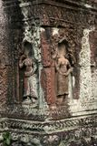 Les sculptures dans l'angkor du Cambodge Image stock