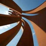 Les sculptures en acier en Venet à Versailles Photographie stock libre de droits