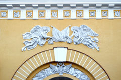 Les sculptures sur le bâtiment de l'Amirauté principal Photo libre de droits