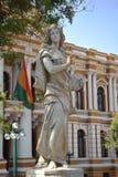 Les sculptures sur le secteur de Murillo dans La Paz Photos libres de droits