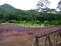 Les sept terres colorées en Îles Maurice photographie stock libre de droits