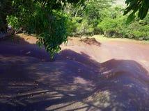 Les sept terres colorées sur l'île des Îles Maurice Photographie stock libre de droits