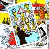 Les sept VII de la carte de tarot de tasses illustration de vecteur