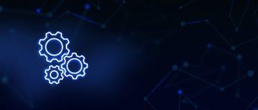 Les services aux entreprises, aide technique, vitesse, configuration, centre d'assistance, nous contactent, page de débarquement  image libre de droits