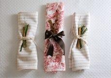 Les serviettes ont décoré Noël Image libre de droits
