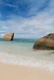 Les Seychelles. Île de Digue de La. Photo stock