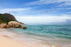 Les Seychelles. Île de Digue de La. Photographie stock