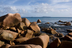 Les Seychelles. Île de Praslin Images libres de droits