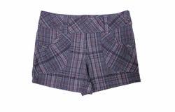 Les shorts modèlent d'isolement sur le blanc Images libres de droits