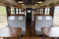 Les sièges de paires d'observation du train de touristes Koshino Shu*Kura Image stock