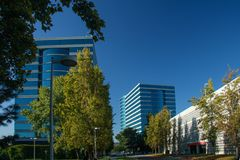 Les sièges sociaux d'Oracle situés à Redwood City Images libres de droits