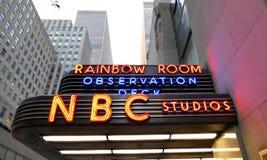 Les sièges sociaux du monde pour des ACTUALITÉS de NBC photos stock