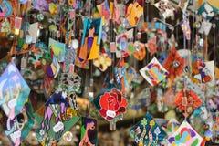 Les sightseeings de ville de Barcelone, Espagne Système de souvenir image libre de droits