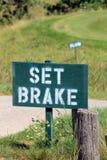 Les signes de golf - frein réglé et ralentissent Images stock