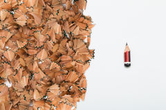 Les signes de l'effort portés crayonnent Image stock
