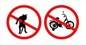 Les signes de l'interdiction Photographie stock
