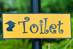 Les signes de la toilette en stationnement. Image libre de droits