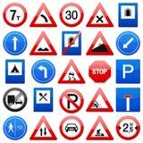 Les signes de route ont placé Photographie stock