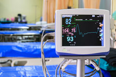 Les signes vitaux surveillent dans l'hôpital Photographie stock libre de droits