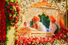 Les Sikhs de passionné exposent des prières Photos libres de droits