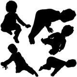Les silhouettes 05 des enfants Photographie stock libre de droits
