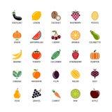 Les silhouettes de Vegan colorent le fruit organique d'éléments de conception d'analyse de fruits de légumes de logos et d'insign images libres de droits