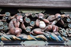 Les 3 singes de Nikko Images libres de droits