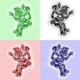 Les singes des Indiens d'Amerique illustration stock