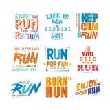 Les slogans inspirés et de motivation ont placé, élément de conception pour l'affiche courante, carte, bannière de décoration, co illustration libre de droits