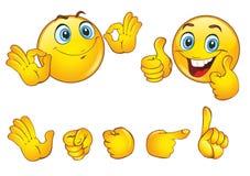 Les smiley font face avec des émotions positives illustration libre de droits
