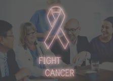 Les soins de santé d'espoir de cancer du sein croient le concept Photo libre de droits