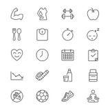Les soins de santé amincissent des icônes Photo libre de droits