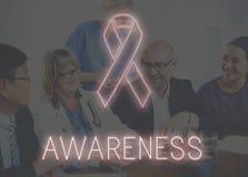 Les soins de santé d'espoir de cancer du sein croient le concept Images libres de droits