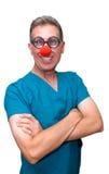Les soins de santé émettent le médecin ou l'infirmière plein d'humour Images libres de droits