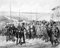 Les soldats caucasiens de l'empire russe illustration stock