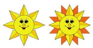 Les soleils Photo libre de droits