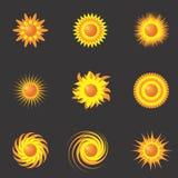 Les soleils Images libres de droits