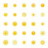 Les soleils abstraits Photographie stock