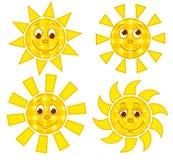 Les soleils de patchwork Images stock