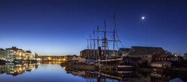 Les solides solubles historiques Grande-Bretagne de Brunel chez Bristol Image libre de droits