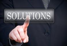 Conclusion des solutions Images libres de droits