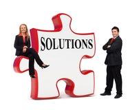 Les solutions d'affaires déconcertent le panneau Photo libre de droits